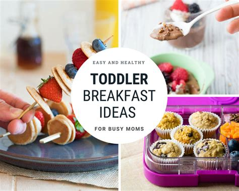 toddler breakfast ideas  easy healthy recipes