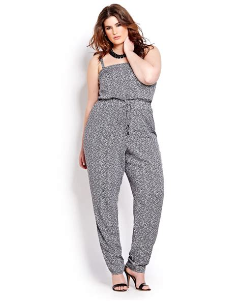 printed jumpsuits michel studio strapless printed jumpsuit addition