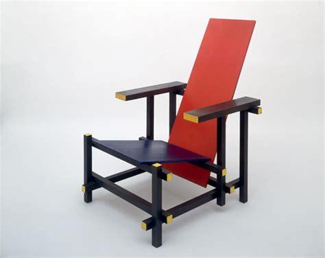 la chaise et bleu de stijl 1917 1931 troubles dans l espace temps