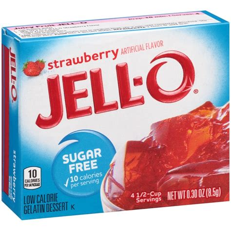 sugar free jello desserts jell o sugar free strawberry low calorie gelatin dessert mix from publix instacart