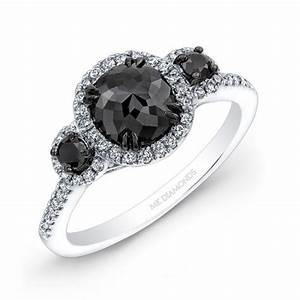 top 10 dazzling diamond engagement rings With black stone wedding rings