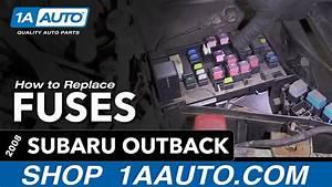 2012 Subaru Outback Fuse Diagram