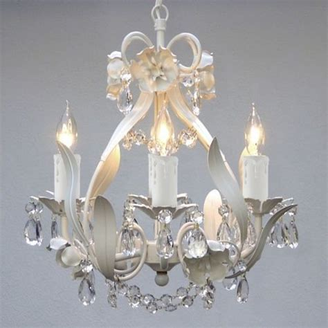 Mini Small White Crystal Chandelier Bedroom Baby Nursery