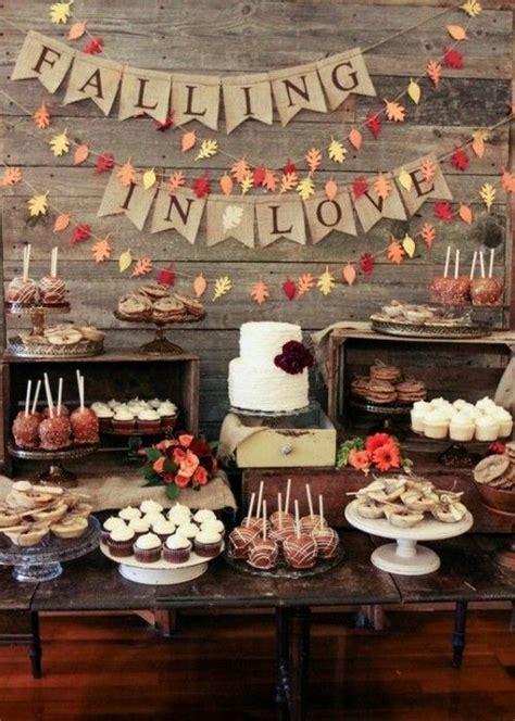 cozy  sweet fall bridal shower ideas weddingomania