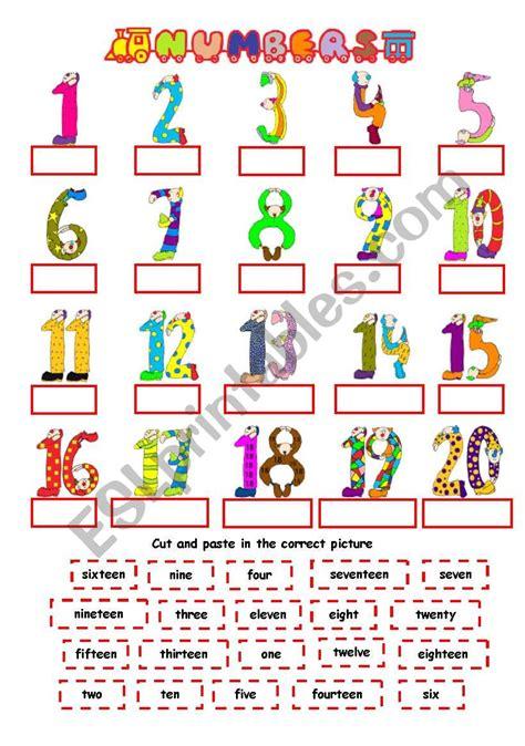 numbers 1 20 esl worksheet by nichi
