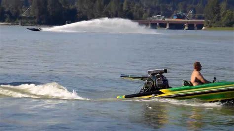 Flat Bottom Boat Jet Drive by Jet Boat V Drive Picklefork Playing On Fraser River