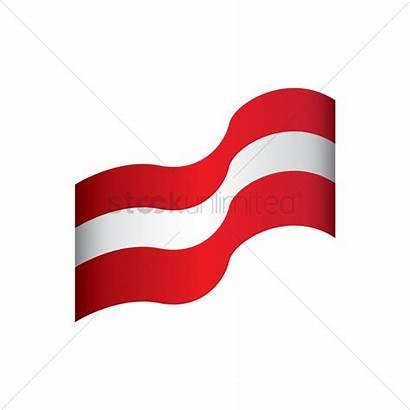 Flag Austrian Clipart Austria Banner Graphic Vector