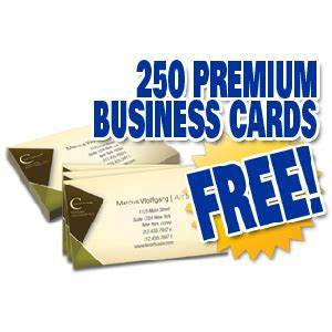 250 free business cards with free shipping from pgprint for Free 250 business cards