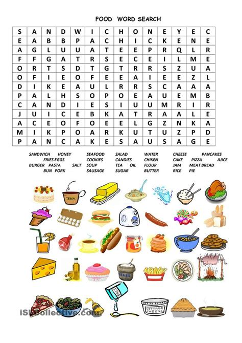 puzzle cuisine food ws esl worksheets of the day