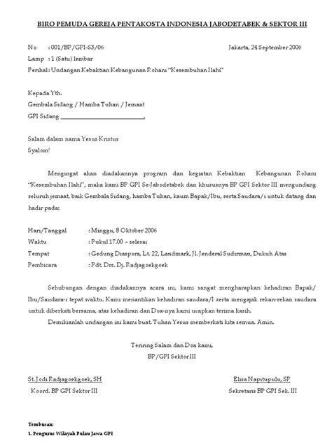 contoh surat undangan resmi perayaan natal surat undangan kkr