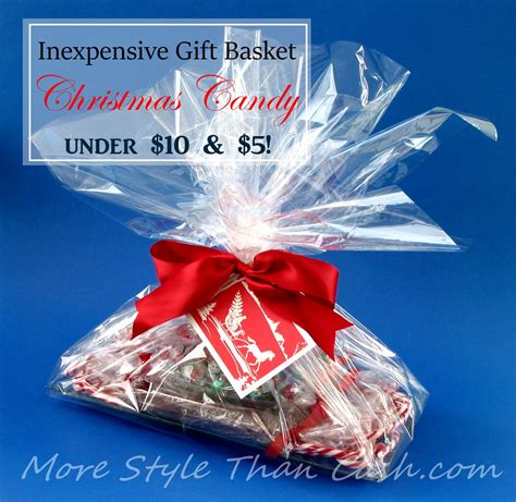 inexpensive gift basket christmas candy