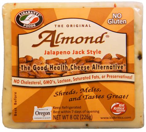 almond cheese healthy vegetarian cheese substitutes almond jalapeno jack chunks