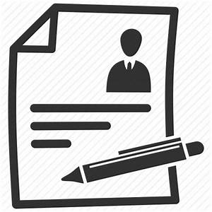 Contract, cv, document, resume icon | Icon search engine