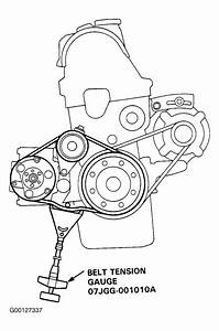 1994 Honda Civic Serpentine Belt Routing And Timing Belt Diagrams