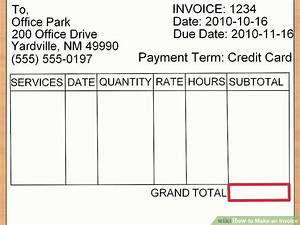 how to make an invoice with sample invoices wikihow With how to make an invoice without a company