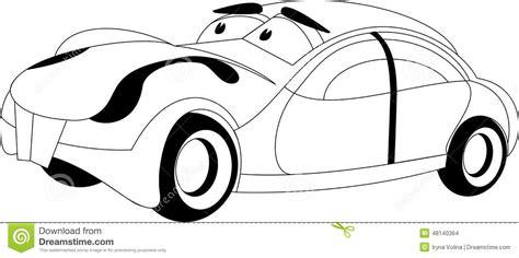cartoon car black and white cartoon car stock vector image 48140364