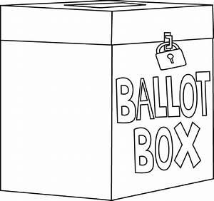 Black and White Ballot Box Clip Art - Black and White ...