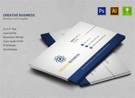 business card cdr template free 20 creative business templates psd eps ai cdr format
