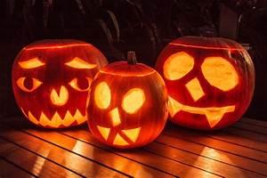 Carved, Pumpkin, Heads