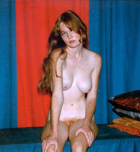 Naked Redhead Freckled Girl Vintage Photo Porn Pic