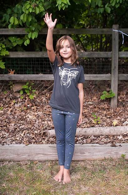 Moon Leggings Silver Outfits Barefoot Preteen Teen