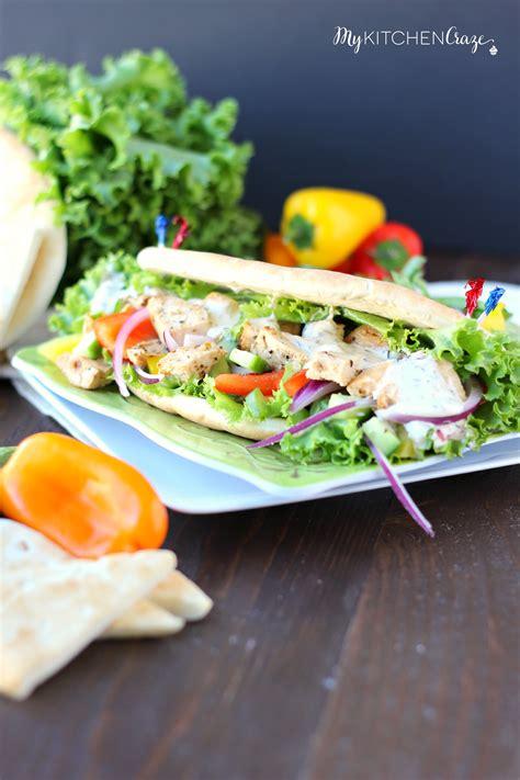 Chicken Pita Wraps - My Kitchen Craze