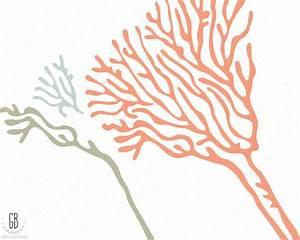 Coral beach sea life vector clip art, corals, starfish ...