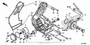 Honda Side By Side 2016 Oem Parts Diagram For Oil Cooler