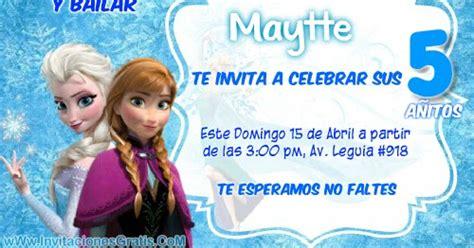 frozen de invitaciones para imprimir gratis invitaciones de cumplea 241 os de frozen princesas