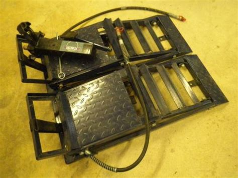 Pair Of C J Autos Hydraulic Car Ramps Sold
