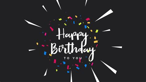 happy birthday greeting card animation stock footage