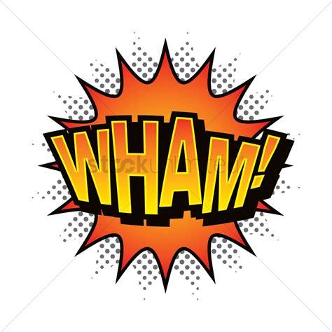 wham logo wham comic speech bubble vector image 1711035