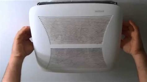 remove  clean  bathroom ceiling fan grille