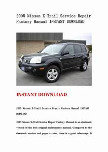 Nissan X Trail 2005 User Manual