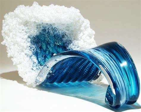 waves glass sculptures  blaker desomma ilikethesepixels