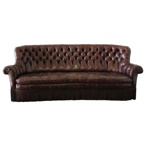 brown leather chesterfield sofa vintage rich brown leather chesterfield sofa with bullion