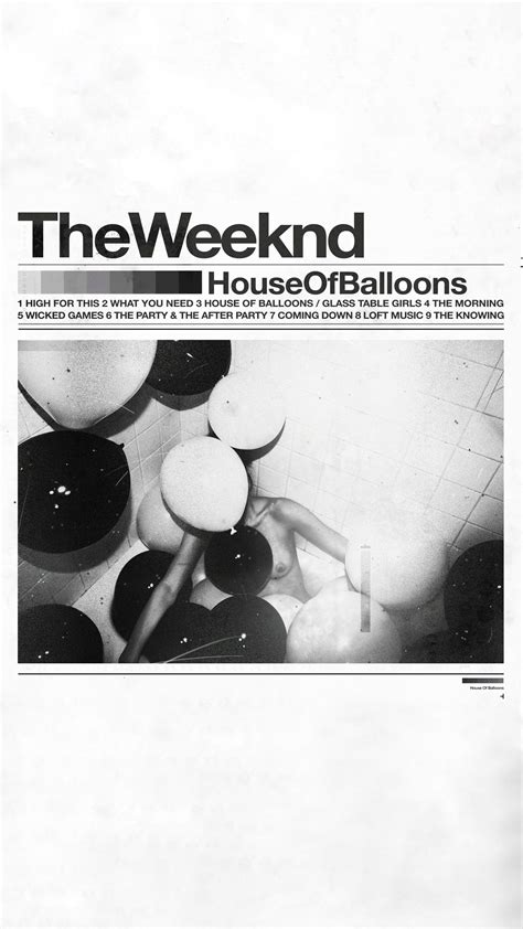[mobile Wallpaper] House Of Balloons 🎈 Theweeknd