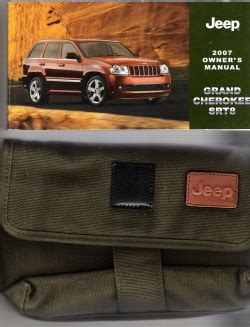 free service manuals online 2007 jeep grand cherokee free book repair manuals 2007 jeep grand cherokee srt8 owner s manual with case