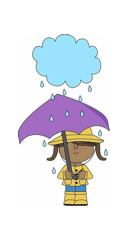 Rain Umbrella Clip Clipart Cloud Under Raining