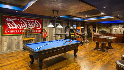 adult game room family room rustic  party room