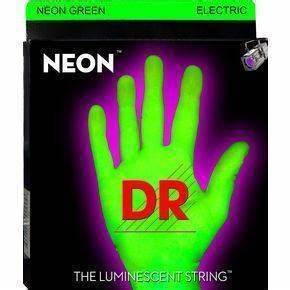 DR Strings Neon Green Electric Guitar Strings Light 9 42