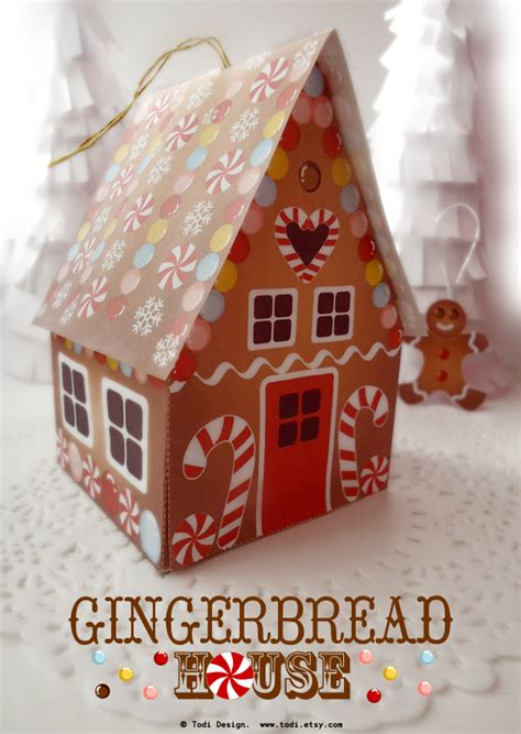 Todi Paper Gingerbread House Printable