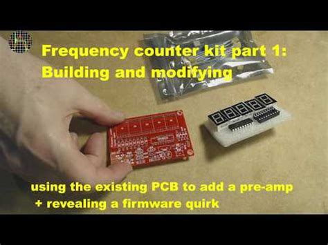 Pic Based Frequency Counter Kit Part Building