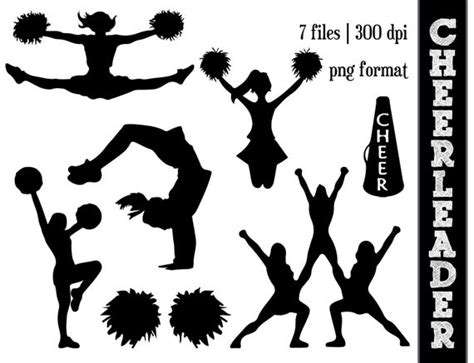 cheerleading clipart silhouettes cheer silhouette by