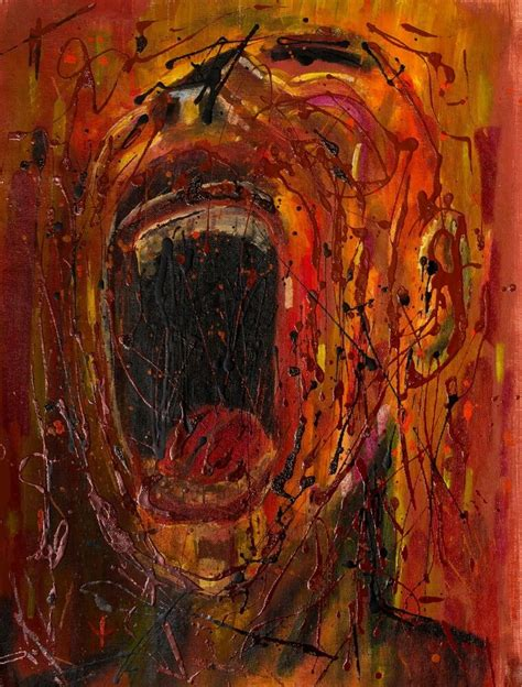 cry abstract expressionism canvas painting pop art