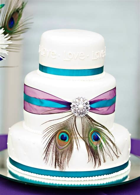 peacock wedding cake wedding peacock theme pinterest