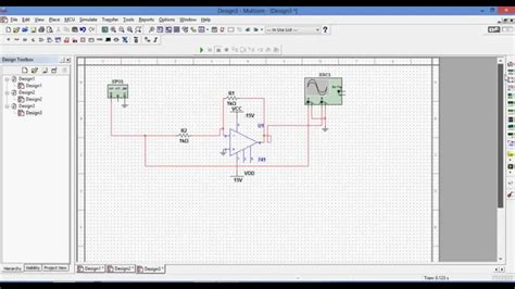 Simulation Inverting Amplifier Multisim Youtube