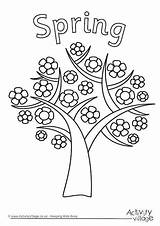 Spring Seasons Tree Colouring Pages Four Clipart Coloring Season Drawing Kid Activity Sheets Children Activityvillage Trees Preschool Printable Summer Winter sketch template