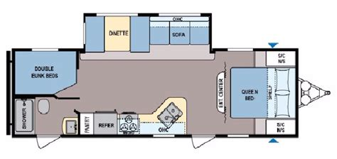 Coleman Travel Trailers Floor Plans by New 2017 Coleman Coleman Cts263bh Travel Trailer For Sale