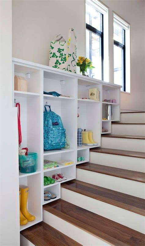 the stairs closet organization before after over the stairs mudroom california closets